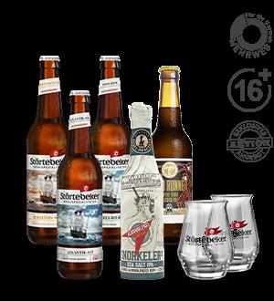 Störtebeker Paket für Online-Verkostung  Alkoholfreie Biere, inkl. Gläser